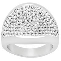 The High Life ring, with 160 Swarovski crystals, stainless steel, 19mm wide