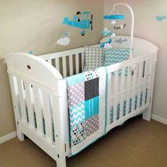 ebda5a49f8 Quarto infantil decorado com patchwork para meninos e meninas