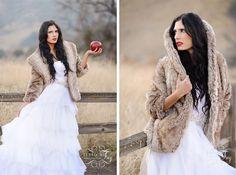 Bride dressed like Snow White in the winter time. Bridal Shoot, Wedding Shoot, Wedding Blog, Wedding Ideas, Wedding Dresses, Snow White Wedding, White Bridal, Red Wedding, Snow White Photos
