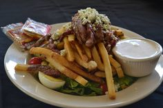 Cooking Irish: The Pittsburgh Steak and Fries Salad with Crumbled Bleu Cheese Dressing