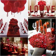 Table Settings For Valentines Day Decoration Christmas Decorations Dinner