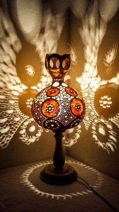 Gourd lamps handcrafted Ottoman decor Turkish