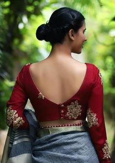 Blouse Designs: Blouse designs imagesAre you searching for the best blouse design images to get beautiful ideas that how to make different designs?So here we have tons of collections of blouse designs different types of patterns and. New Saree Blouse Designs, Blouse Designs Catalogue, Simple Blouse Designs, Blouse Back Neck Designs, Stylish Blouse Design, Bridal Blouse Designs, Simple Blouse Pattern, Indian Blouse Designs, Latest Blouse Neck Designs