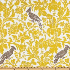 Wide Premier Prints Barber Slub Yellow/Taupe Fabric By The Yard