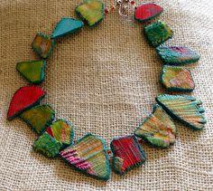 Polymer clay necklace   Flickr: Intercambio de fotos