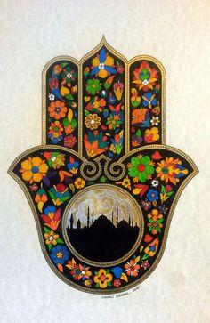 Canan Harmancı Demirel Quilling, Hamsa Jewelry, Punk Jewelry, Yoga Jewelry, Hippie Jewelry, Hand Der Fatima, Hamsa Art, Motif Oriental, Christian Symbols