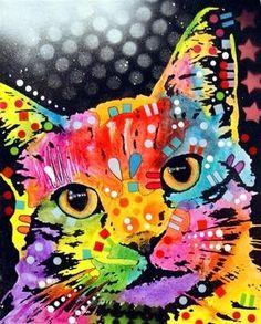 cat art--i hesitate, but kids love it
