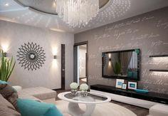 Moderne Wohnstube Einfach : Wohnzimmer einrichten beispiele modernes mit kÜche