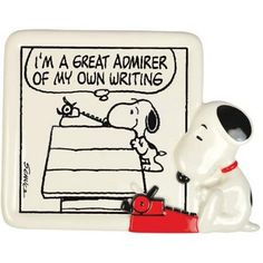 Plaque, Snoopy Typing
