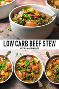 Four Kitchen Decorating Suggestions Which Can Be Cheap And Simple To Carry Out New This Low Carb Beef Stew Recipe Will Have You Fighting For Seconds With Its Melt In Your Mouth Beef, Dry Wine, Fruity Balsamic And Tender Broth Soaked Vegetables Dig In Low Sugar Recipes, Healthy Low Carb Recipes, Low Carb Dinner Recipes, Meat Recipes, Sugar Foods, Sugar Diet, Keto Dinner, Eat Healthy, Cooker Recipes