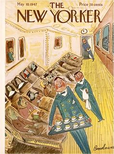 The New Yorker Cover May 10, 1947  By Ludwig Bemelmans