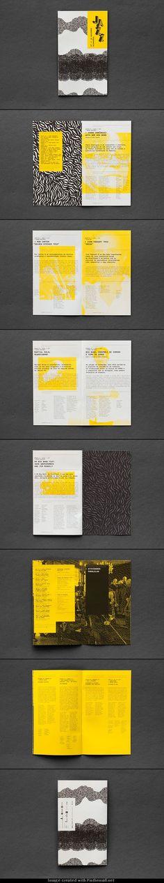 Édition - Brochure d'un festival de jazz par l'Atelier de graphisme Martino & Jana. Illustrations par Sofia Leite. #layout