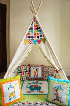 Tee-pee Circus Birthday, Birthday Parties, Tee Pee, Toddler Bed, Inspiration, Ideas, Home Decor, Anniversary Parties, Child Bed