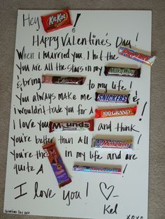 valentine's day sayings on candy
