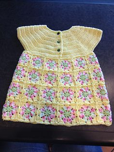 Craft Passions: Flower Dress free crochet pattern