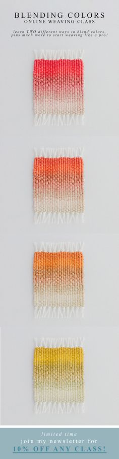 Add to my to do list. Weaving gradient colour.