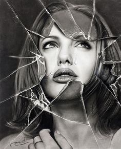 Angelina Jolie by Aymanarts Shadow Photography, Artistic Photography, Portrait Photography, Pencil Portrait Drawing, Pencil Art, Pencil Drawings, Drawing Drawing, Sad Drawings, Realistic Drawings
