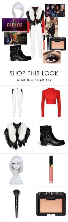 """""""My descendants Carlos outfit #descendants #rottentothecore"""" by theparisvogue ❤ liked on Polyvore featuring rag & bone, WearAll, Valentino, Disney, Chanel, Lancôme and NARS Cosmetics"""