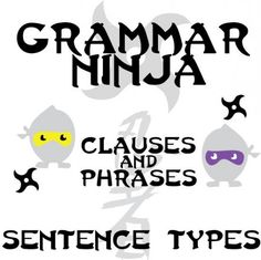 Grammar Ninja - Clauses and Phrases - 4 Types of Sentences product from CreatedForLearning on TeachersNotebook.com
