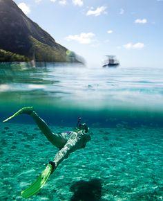 Going for a swim at Jalousie Beach, Soufrière, St. Lucia