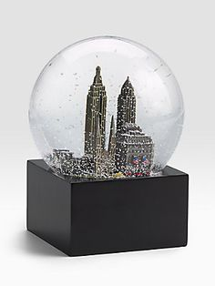 Saks Fifth Avenue New York City Snow Globe