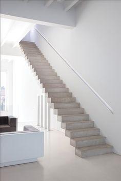 Treppe im Wohnbereich, aber nicht aus Beton