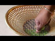 Creative Art Rangoli Design using Basket| Rangoli for beginners - YouTube