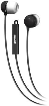 Maxell - Stereo In-Ear Earbuds with Microphone & Remote (Black) Case Pack 2