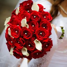 Romantic Red Bridal Bouquet - Romantic Red Bridal Bouquet > Romantic Red Brid... | Red, Bouquet, Romantic, Product, Purchased | http://www.bunchesdirect.com/index.php/Wedding-Flowers/Romantic-Red-Bridal-Bouquet/flypage-tags.tpl.html#.VCJe3ZRdWSo