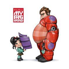 Wreck it Ralph // Big Hero 6 Disney Pixar, Disney Fan Art, Disney And Dreamworks, Disney Animation, Wreck It Ralph, Disney And More, Disney Love, Disney Magic, Jack O'connell