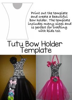 This tutu bow holder template will make it so easy to diy and create a tutu bow holder for little girls. It includes a link to tutu bow holder tutorials and is wonderful for craft shows. Kids will love this craft activity that is perfect for a summer activity or a rainy day. The template was tested by many bow makers and did well in craft booths too. I love that it has many sizes to suit the needs of your project or child!