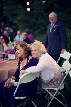 My grandpa watching my mom and grandma watch my dad and I dance :)