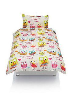 Owl and heart bedding Pinned by www.myowlbarn.com
