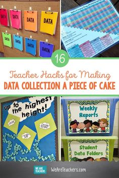 16 Teacher Hacks for Making Data Collection a Piece of Cake. If keeping track of all the streams of data coming your way is not your strong suit, here are a few hacks to make data collection easier (and even fun). A former basketbal Student Data Folders, Data Binders, Teaching Tools, Teacher Resources, Teaching Ideas, School Resources, Formative And Summative Assessment, Preschool Special Education, Kids Education