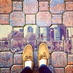 hernandezjessica | los angeles | shoes + fromwhereistand + tan orange blue