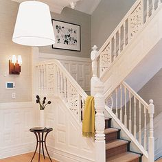 wainscoting and molding within rails
