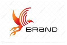 Logo for sale: Phoenix Sound Wave Logo Unique phoenix logo showing sound wave or mobile wave. Suitable for telecommunication or mobile related company, audio brand or company or home automation installation business. firebird flame fire heat hot technology tech technologies audio voice cell cellphone service provider telecom prepaid 4G 3G speech sonar sonic logo logos wifi hotspot wireless isp internet