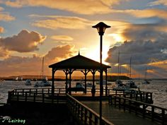 Magnífico atardecer en la Glorieta de la Mansa - Punta del Este, Uruguay