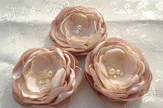 Blush Pink Bridal Hair Flower Pearl Flower by LudasPreciousDesigns, $11.99