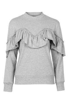 Jersey Ruffle Sweatshirt - Romantic Ruffles - We Love - Topshop