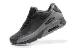 Nike Air Max 90 Hyperfuse Hommes Noir Gris Argent Store