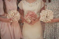 Ideas Rustic Bridal Party Attire Mismatched Bridesmaid Dresses For 2019 Mismatched Bridesmaid Dresses, Brides And Bridesmaids, Autumn Bridesmaids, Hydrangea Bridesmaid Bouquet, Bridal Portraits Outdoor, Indian Bridal Party, Bridal Shower Menu, Disney Bridal Showers, Wedding Day