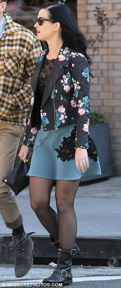 Want a flower printed faux learher jacket so bad!!!!!!!!
