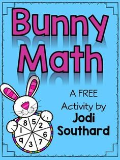 This Bunny Math Freebie is very versatile, and can easily be differentiated for many levels of learners. Students will spin numbers using the Bunny Spinners. They will use these numbers for their equations. Students can add the numbers, subtract the numbers, add 3 numbers, multiply, etc.