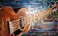 Love this guitar painting! -- < found when I pinned ... http://www.pinterest.com/pin/507710557966046145/ and ... http://www.pinterest.com/pin/507710557966046126/   . >