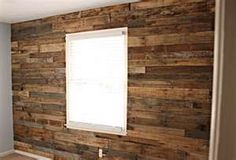 Wood Pallet Accent Wall - currently working on this