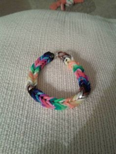 Rainbow fishtail bracelet