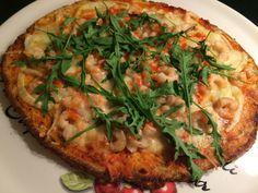 Bloemkool pizza met heerlijke krokante bodem