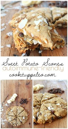 Sweet Potato Raisin AIP Scones | Cook It Up Paleo http://cookituppaleo.com/sweet-potato-raisin-aip-scones/