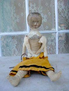 19th century wood doll